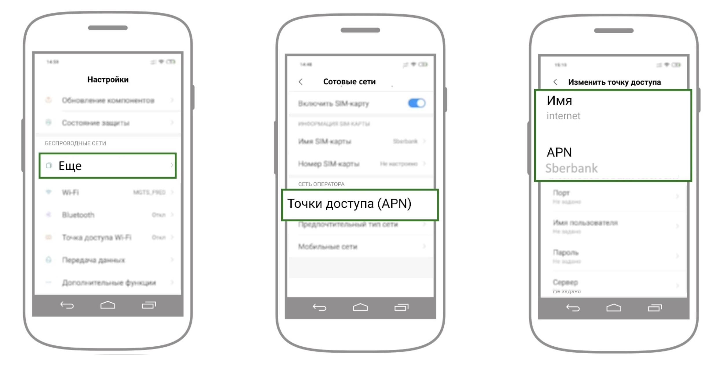 как подключить интернет на телефон сбермобайл ios androind